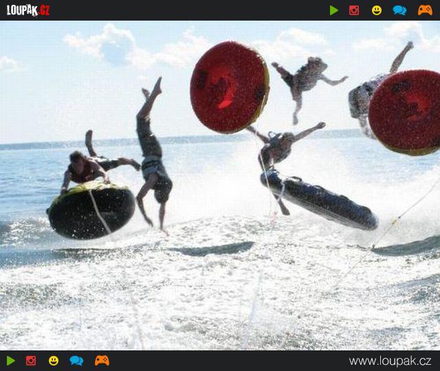 reklamy doprovod vodní sporty
