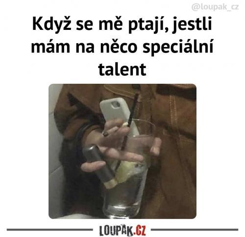 To je skvělý talent