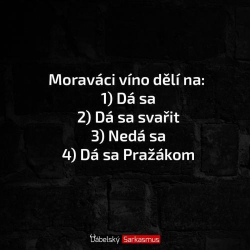 Moravací a dělení vína