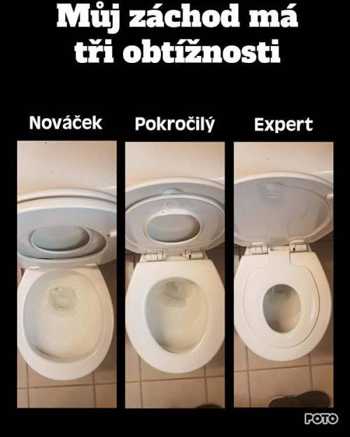 Obtížnost záchodu