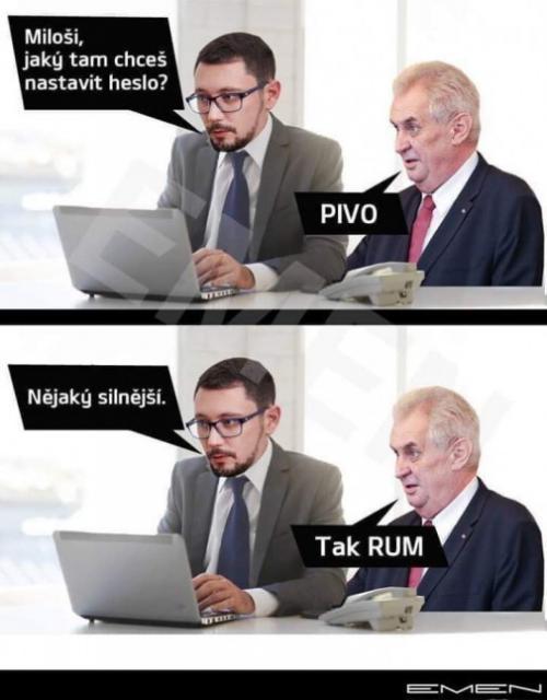 Miloš a jeho heslo