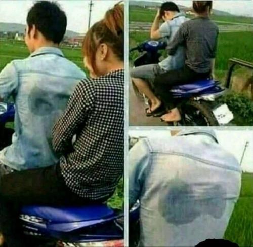 Když je holka na motorce za vámi fakt hodně nervózní