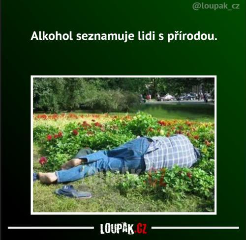 Alkohol seznamuje lidi s přírodou