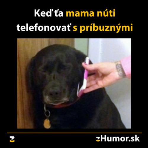 Telefonování s příbuznými