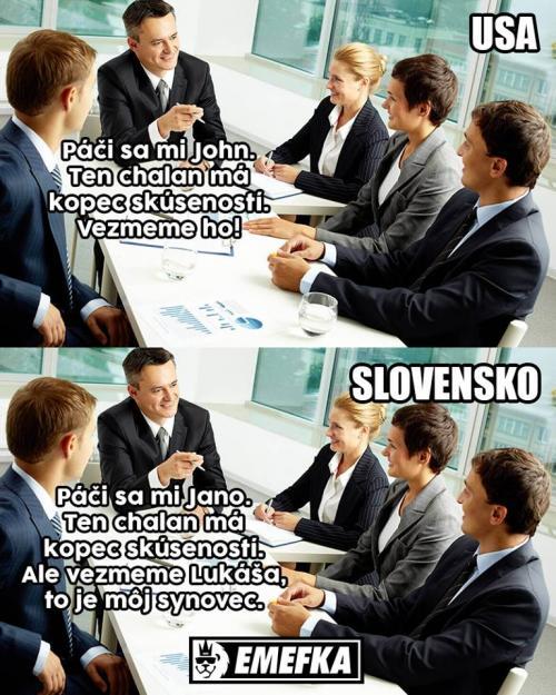 Zkušenosti v USA vs. na Slovensku