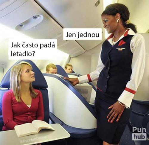 Poprvé letadlem