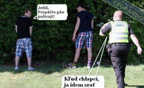 Ježíš, promiňte pane policajt