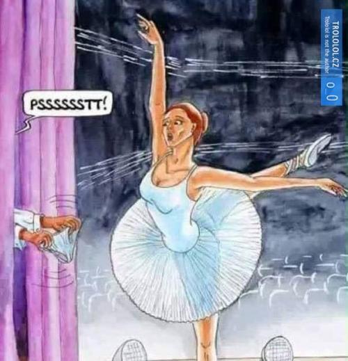 Když si baletka zapomene spodní prádlo