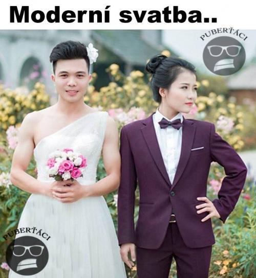 Moderní svatba