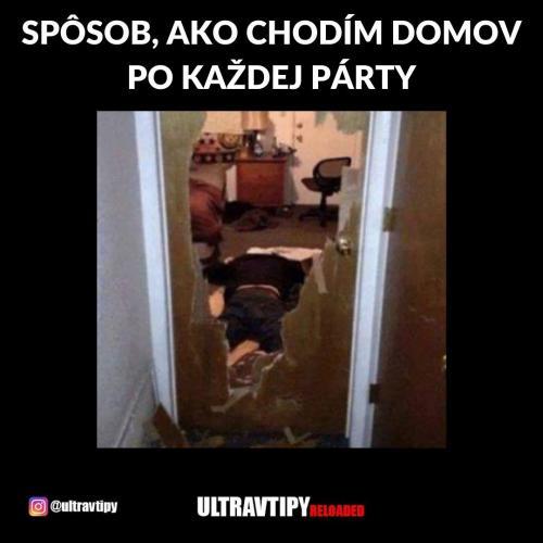 Domů z párty