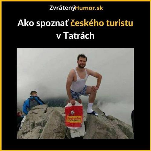 Český turista v Tatrách