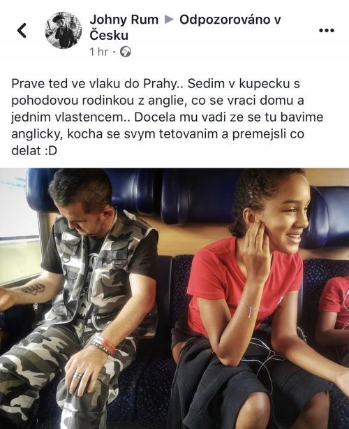 Právě teď ve vlaku do Prahy