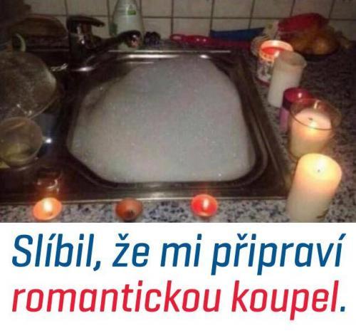 Romantická koupel