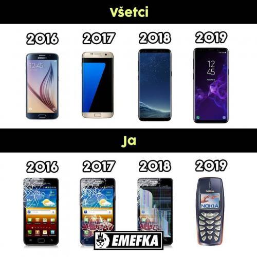 Jak vypadaly telefony ostatních vs moje
