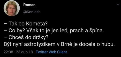 Astrofyzik v Brně