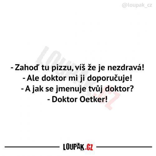 Pizza není zdravá