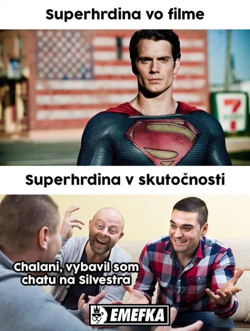 Superhrdina ve filmu vs. ve skutečnosti
