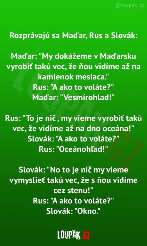 Maďar Rus a Slovák