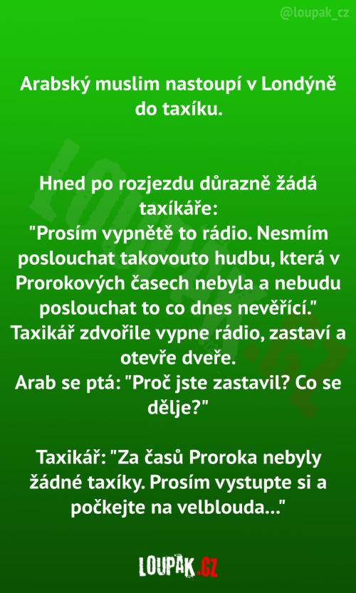 Arab v taxíku