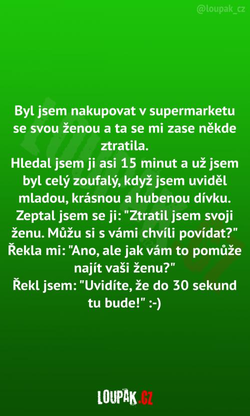 Nákupy v supermarketu s ženou