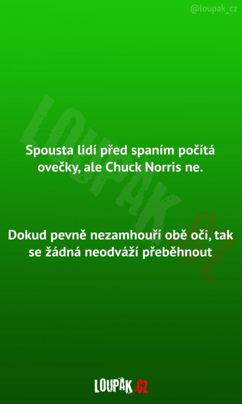 Chuck Norris a počítání oveček před spaním