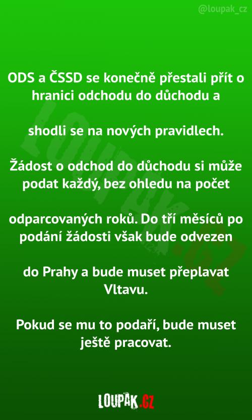ČSSD A ODS se přestali přít