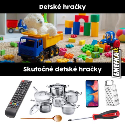 To jsou opravdové dětské hračky