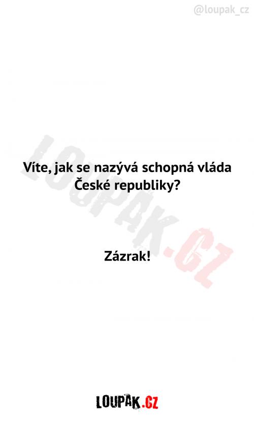 Schopná vláda České republiky
