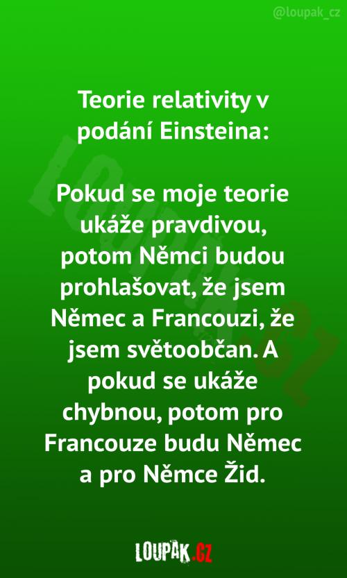 Teorie relavity v podání Einsteina