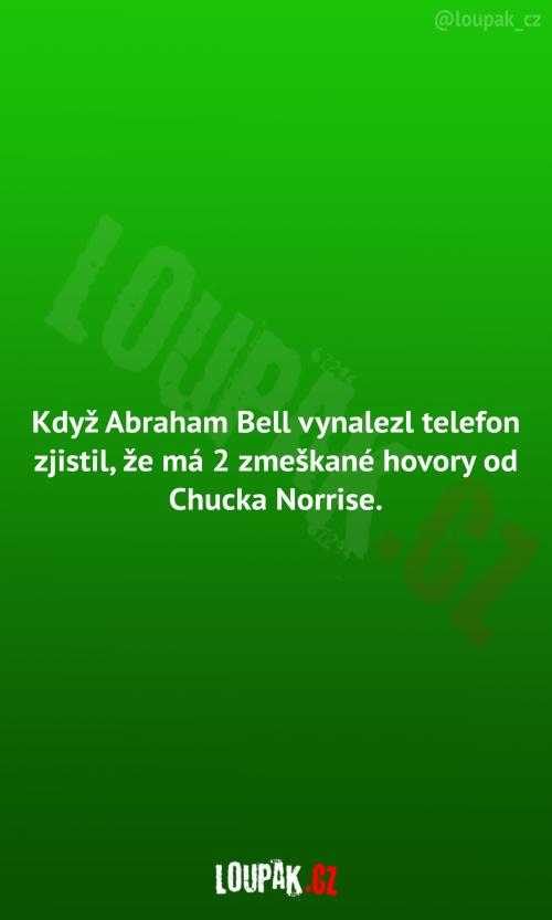 Abraham Bell vynalezl telefon