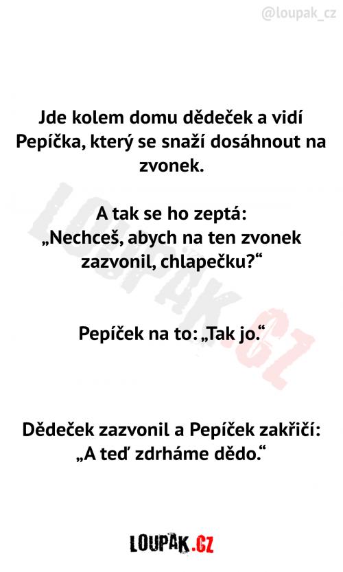 Dědeček chce pomoct Pepíčkovi
