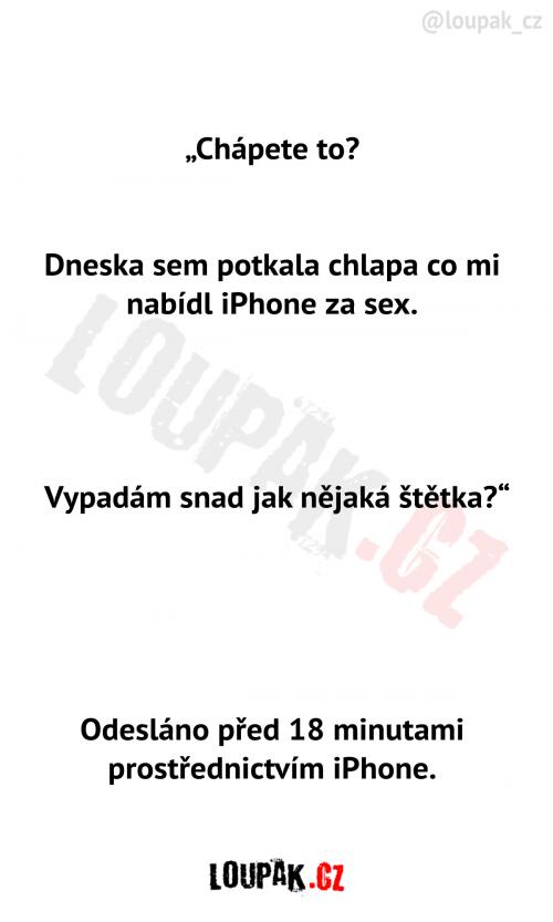 Nabídka iPhonu za sex od chlapa