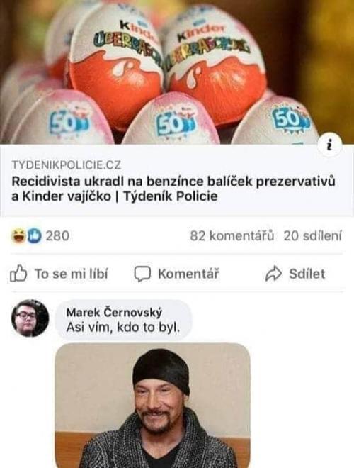 Krádež kinder vajíček