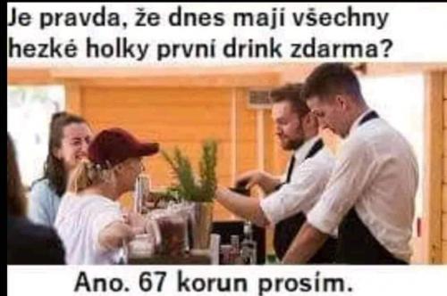 První drink zdarma