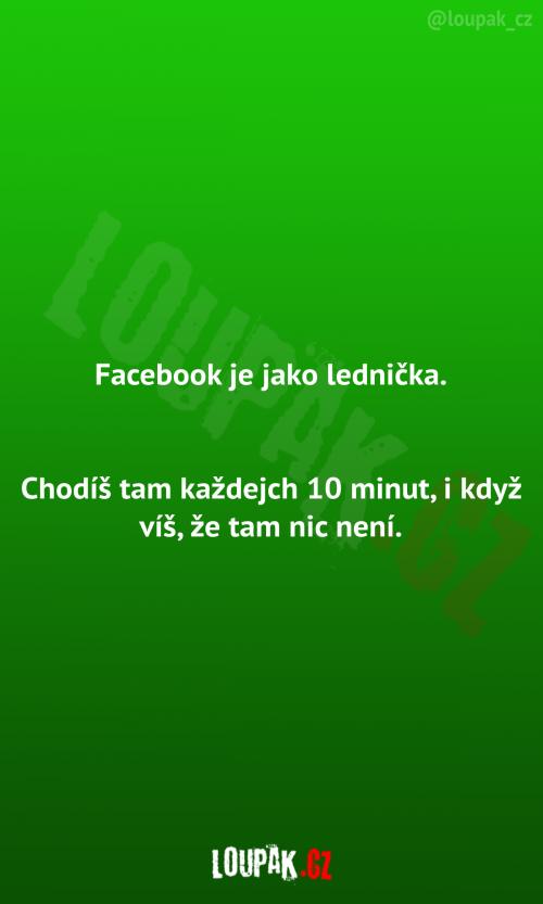 Facebook jako lednička