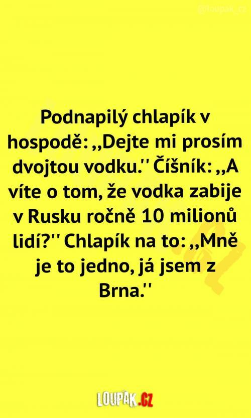 Vodka zabíjí jen v Rusku?