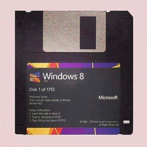 Instalační disketa Win 8
