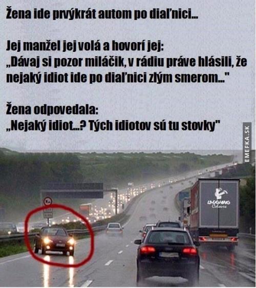 Žena na dálnici