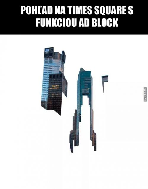Times square a ad block