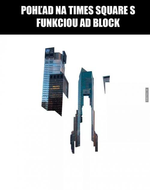 Times square a ad block