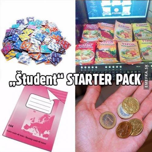 Starter pack studenta