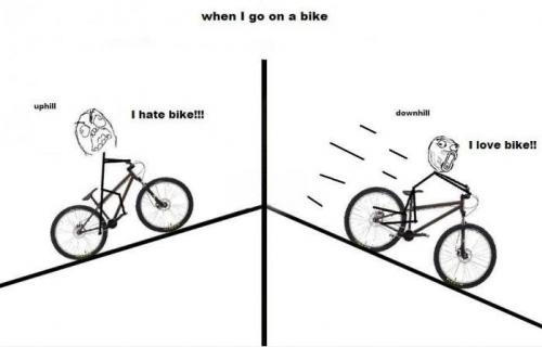 When i go on a bike