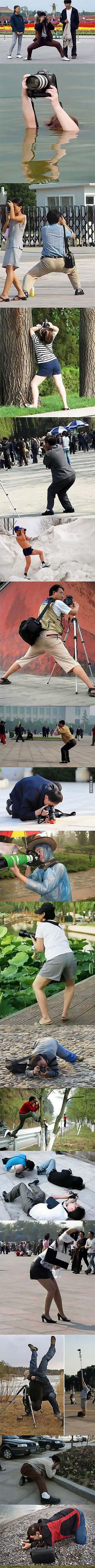 Druhy pózování při fotografování