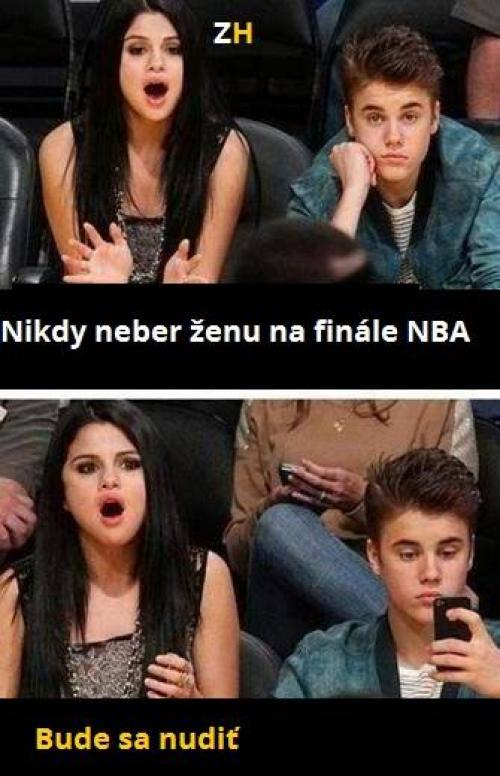 Nikdy neber holku na NBA