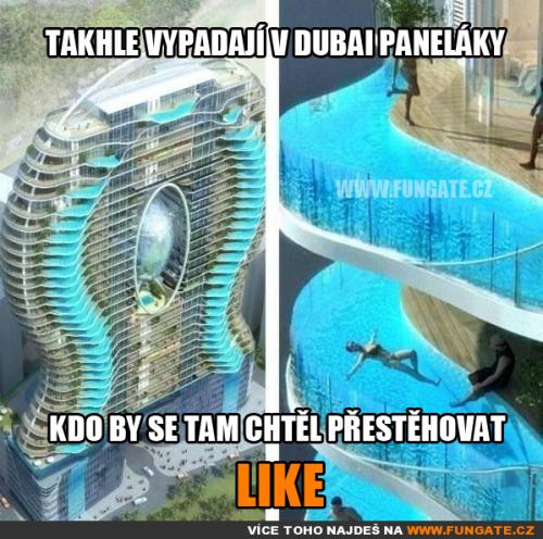 Takhle vypadají v Dubai paneláky
