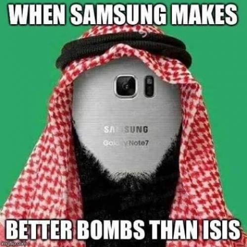 Samsung dělá lepší bomby než ISIS
