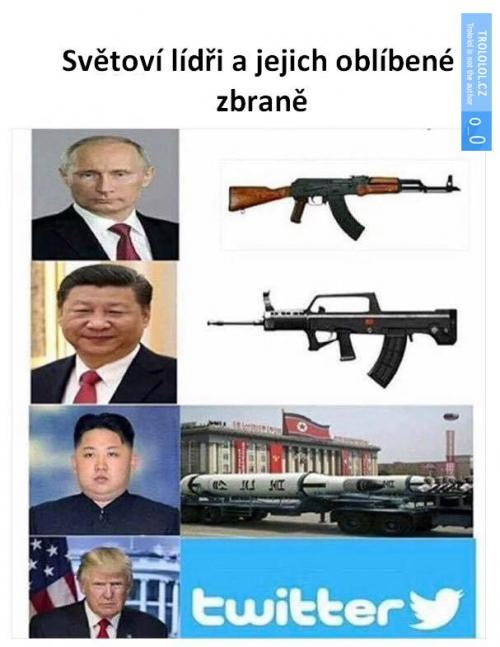 Státníci a jejich oblíbené zbraně