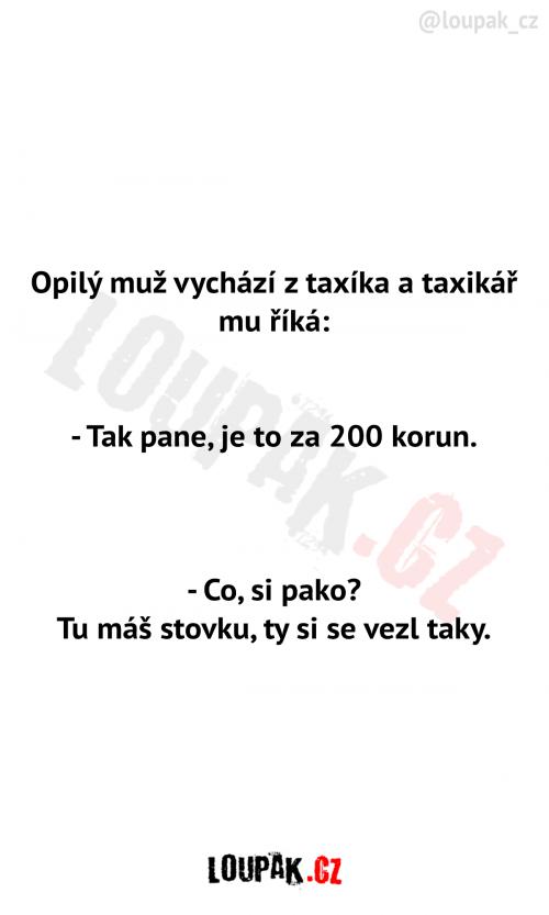 Opilec a taxikář