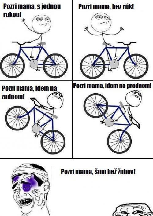 Jak já běžně jezdím na kole