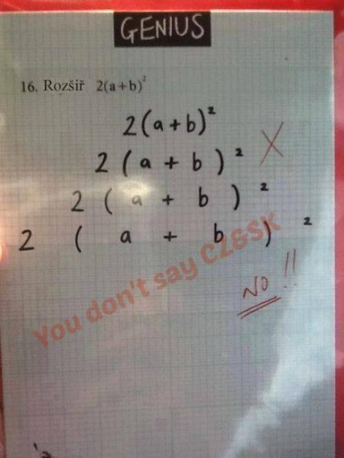 Když máš v zadání v matematice rozšiř